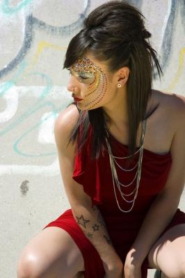 Maquillaje de Fantasia – Arco Iris (Maquillaje: Iratxe Irizar / Fotografia: Oscar Andres)