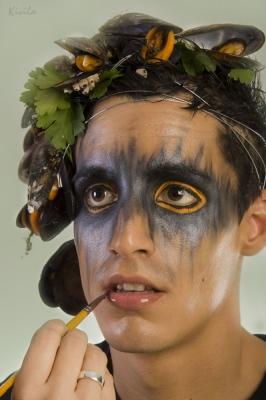 "Maquillaje Fantasia ""Mejillones""- Maquillaje: Iratxe irizar / Fotografia: Kivila / Modelo: Daniel Curiel"