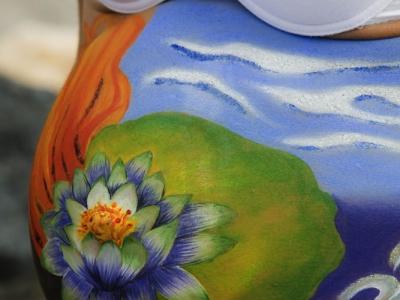 Body Painting – Embarazada – flor de loto (Maquillaje y Fotografia: Iratxe Irizar)